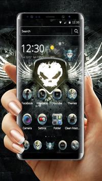 White Iron Skull Gun Theme poster