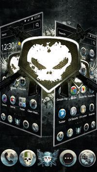 White Iron Skull Gun Theme screenshot 1