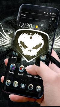 White Iron Skull Gun Theme screenshot 2