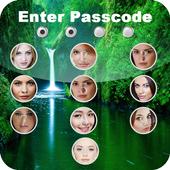 Passcode photo screen lock icon