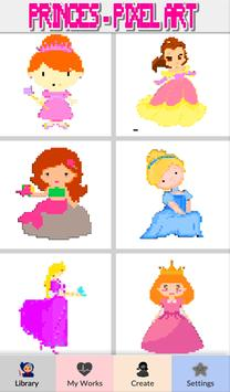 Princess Color by Number-Pixel Art: Coloring Book poster