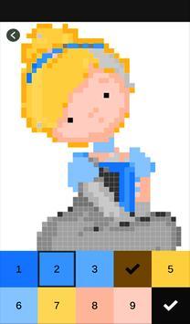 Princess Color by Number-Pixel Art: Coloring Book screenshot 1