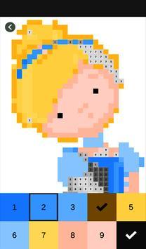 Princess Color by Number-Pixel Art: Coloring Book screenshot 2