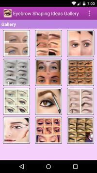 Eyebrow Shaping Ideas Gallery apk screenshot