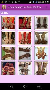 Henna Design For Bride apk screenshot