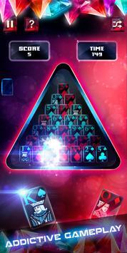 Glass Solitaire Pyramid - 3D apk screenshot