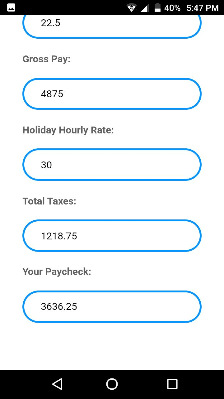 PayCheck Calculator for Android - APK Download