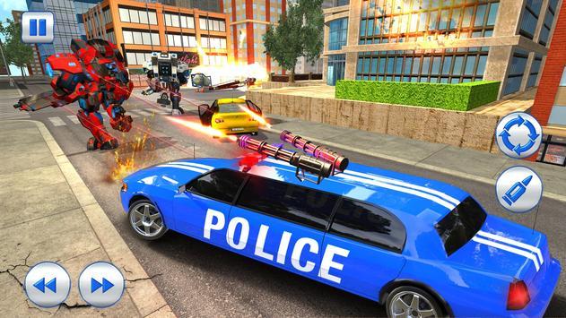 US Police Robot Limo Car Transformation Game screenshot 4