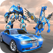 US Police Robot Car Flying Horse Simulator Game icon