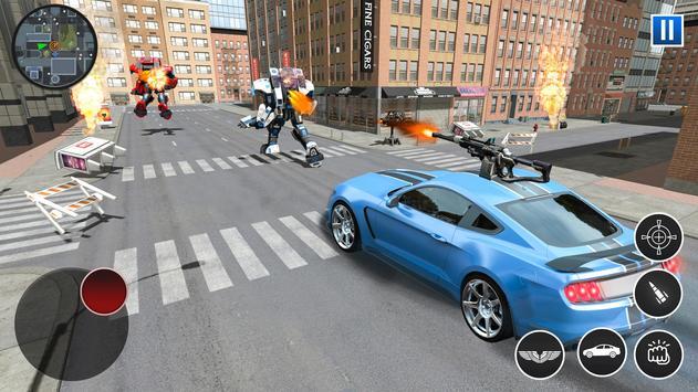 US Police Robot Car Flying Horse Simulator Game poster
