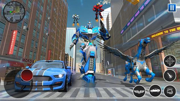 US Police Robot Car Flying Horse Simulator Game screenshot 8