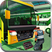 Bus Mechanic Workshop Sim icon