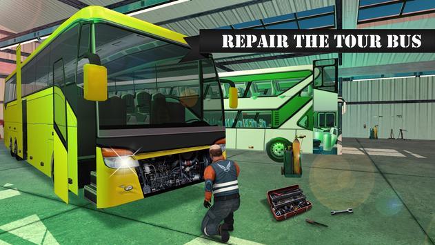 Bus Mechanic Workshop Sim poster