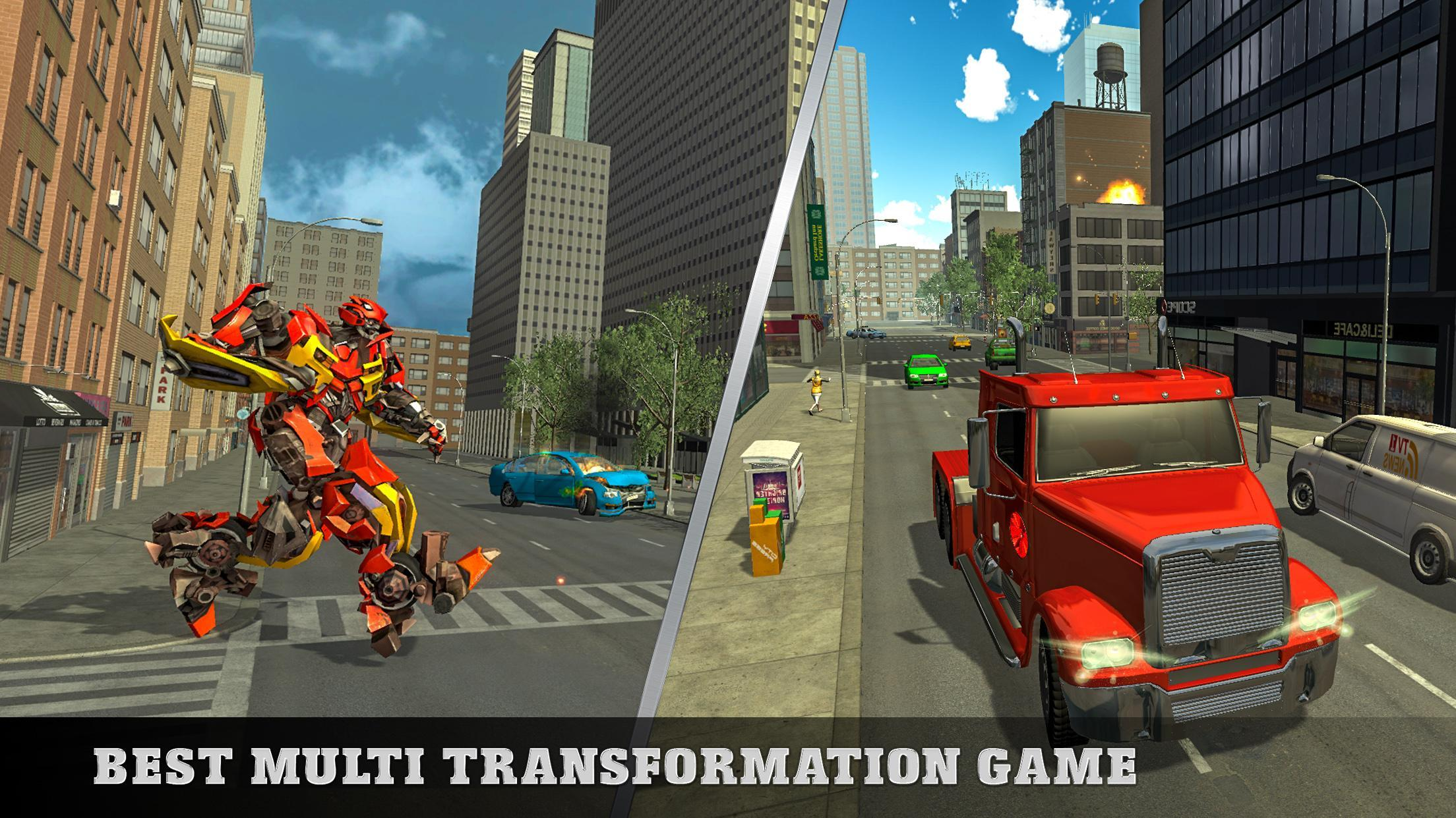 Euro Truck Robot Game Transforming Robot Simulator for Android - APK