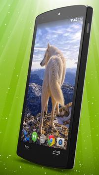 White Wolf Live Wallpaper screenshot 1
