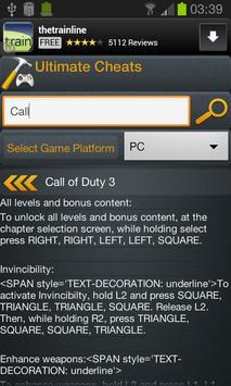 Ultimate Cheats apk screenshot