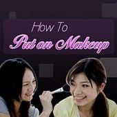 How to put on makeup icon