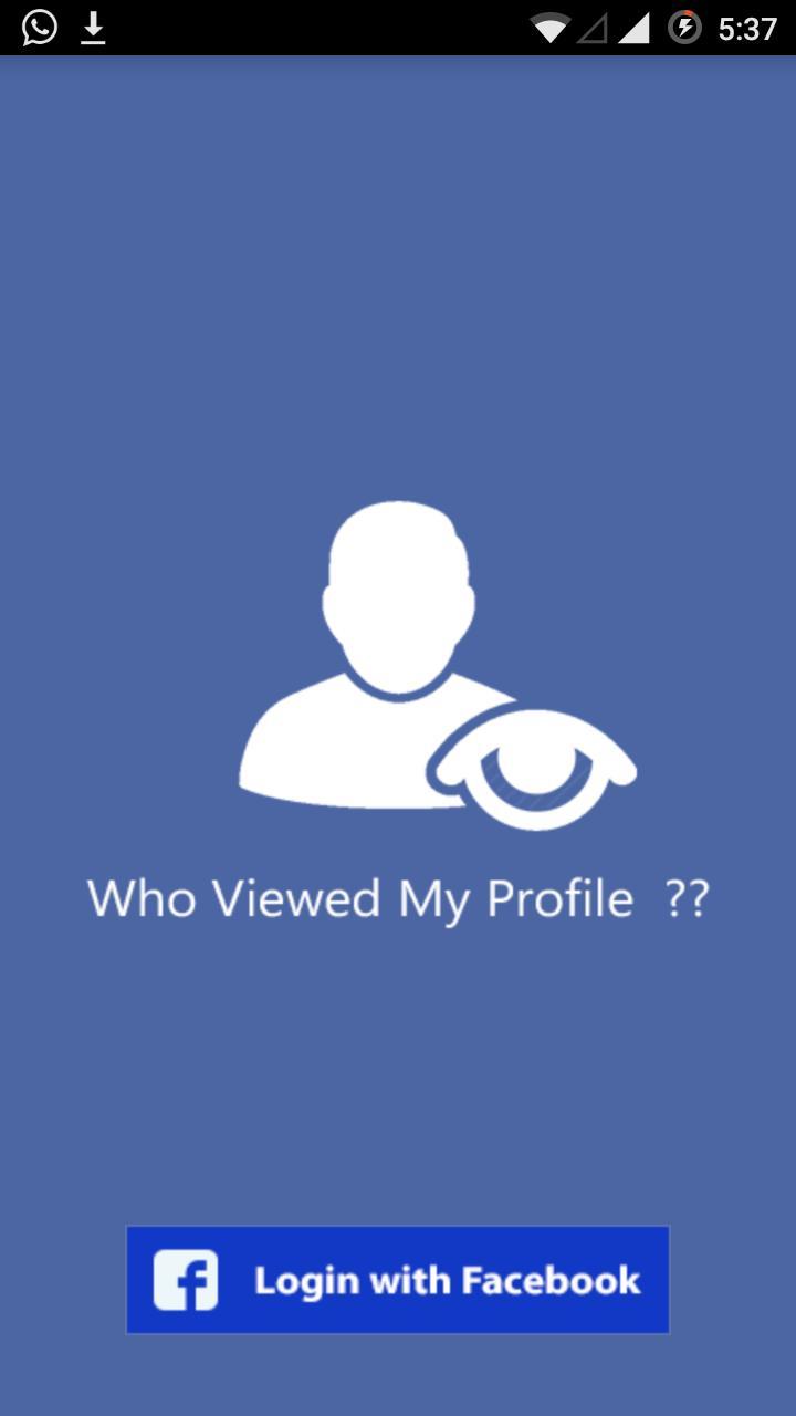 Who checks my profile