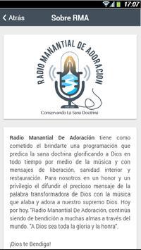 Radio Manantial de Adoración apk screenshot