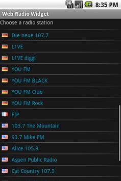 Web Radio Widget (Demo) screenshot 1