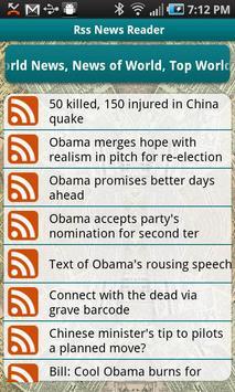 RSS Reader apk screenshot
