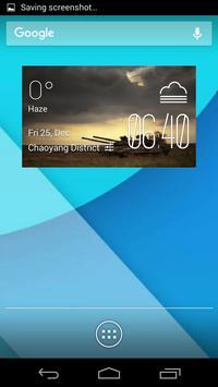 tank1 weather widget/clock poster
