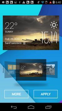 tank1 weather widget/clock apk screenshot