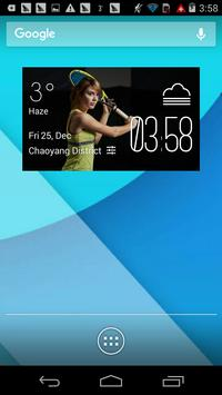 tennis weather widget/clock poster