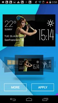 tennis weather widget/clock apk screenshot
