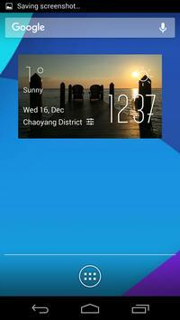 Terminal weather widget/clock poster