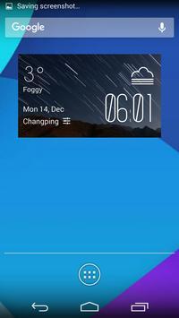 The aurora weather widget poster