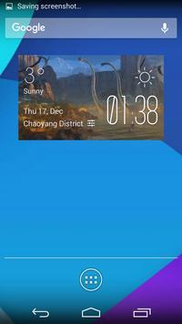 The dinosaur1 weather widget poster