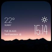 The hills dawn weather widget icon