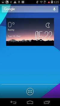 The hills dawn weather widget poster