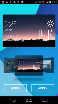The hills dawn weather widget apk screenshot