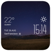 The plain night weather widget icon