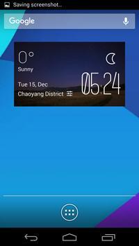 The plain night weather widget poster