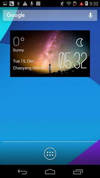 The stars weather widget/clock poster