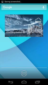 Tijuana weather widget/clock poster