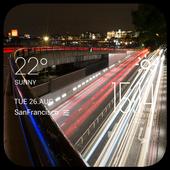 Traffic weather widget/clock icon