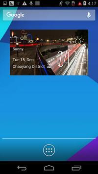 Traffic weather widget/clock poster