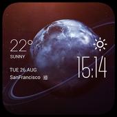 Uranus weather widget/clock icon
