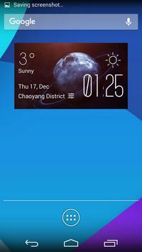 Uranus weather widget/clock poster