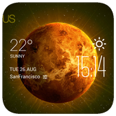 Venus weather widget/clock icon