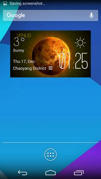 Venus weather widget/clock poster