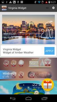 Virginia weather widget/clock apk screenshot