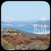 Albany weather widget/clock icon