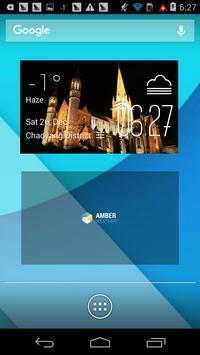 Bendigo weather widget/clock poster