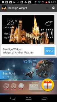 Bendigo weather widget/clock apk screenshot