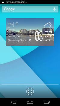 Brisbane weather widget/clock poster